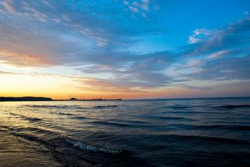 Bałtyk o zachodzie słońca