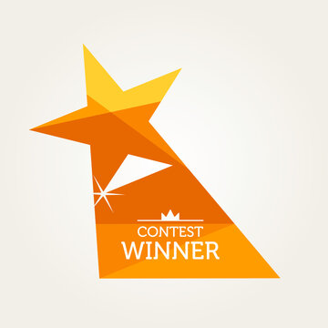 Vector Design Of A Star Shaped Award For The Contest Winner