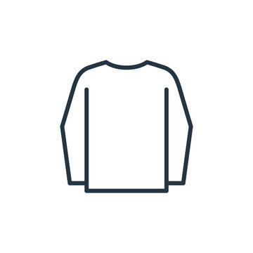long sleeves vector icon isolated on white background. Outline, thin line long sleeves icon for website design and mobile, app development. Thin line long sleeves outline icon vector illustration.