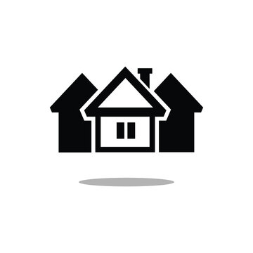Web home flat icon for apps and websites