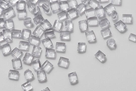 clear transparent polymer granulate