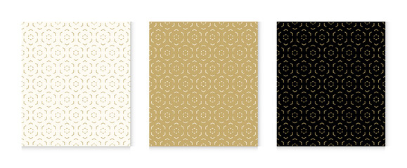 Papiers peints Artificiel Background pattern seamless geometric line abstract gold luxury color vector. Christmas background.