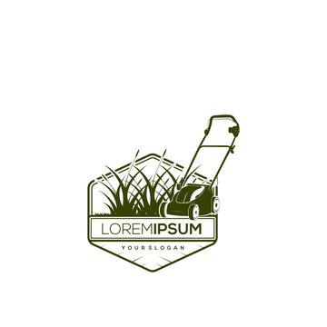 Landscape service logo design template