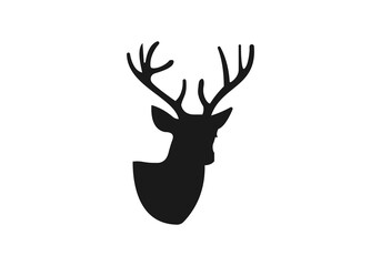 Deer head logo for Logotype, Label, Badge, T-shirts and other designs. Hunting club logo vector illustration