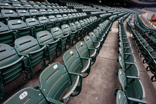 Empty Sports Stadium.