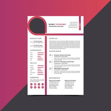 Professional Resume CV curriculum vitae Template