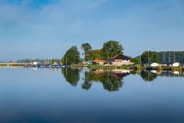 Sailing school 't Vossehol and camping Hof van Eden on lake de Kaag in the Netherlands.