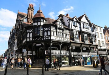 Fototapeta The historic Rows in the centre of Chester, England.  obraz