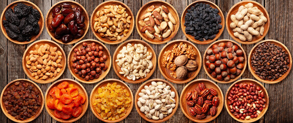 Poster Brazil Various dried fruits and nuts