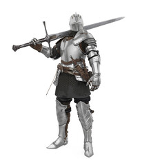 Medieval Knight Armor Isolated