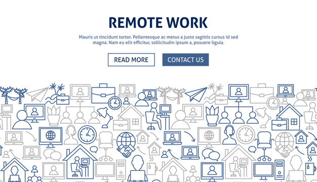 Remote Work Banner Design