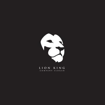 lion face,lion head logo design vector illustration