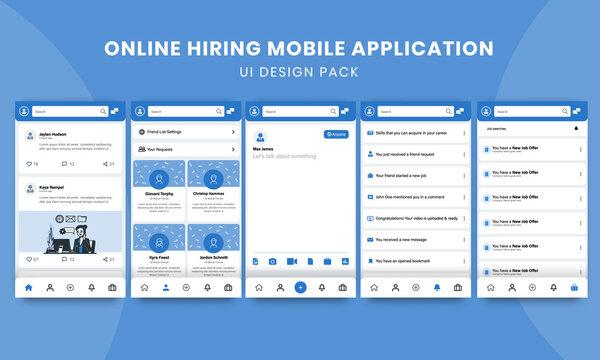 Online Hiring Mobile Application - UI Design Pack