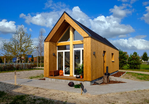 A so called Tiny House, small ecological wooden house
