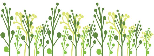 green grass on white  background, vector illustration