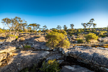Hiking paths in the Grampians National Park in Victoria, Australia.