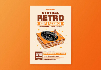 Virtual Retro Experience Flyer Layout