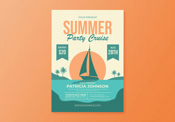 Summer Party Cruise Flyer Layout