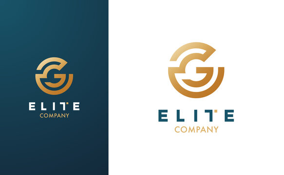 Premium Vector G Logo in two colour variations. Beautiful Logotype for luxury branding. Elegant and stylish design for your Elite company.