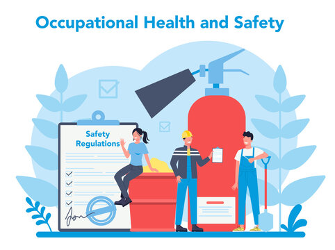 OSHA concept. Occupational safety and health administration.