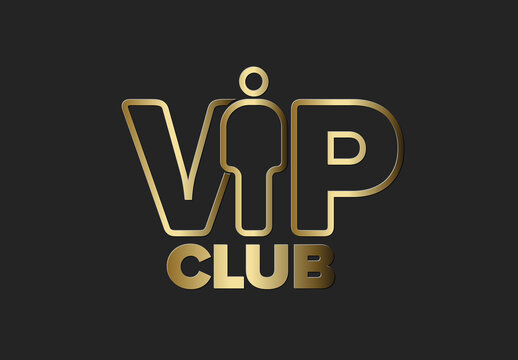 Golden Vip Club Logo Mark