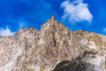 The Giant's Tooth is a peak in the Western Alps. North of Italy.