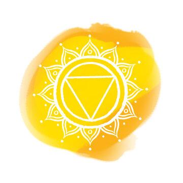 Solar Plexus Chakra Watercolour Icon