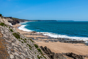 Fototapete - Porthleven Beach Cornwall England UK