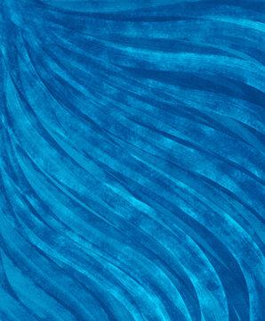 Blue wavey watercolor background