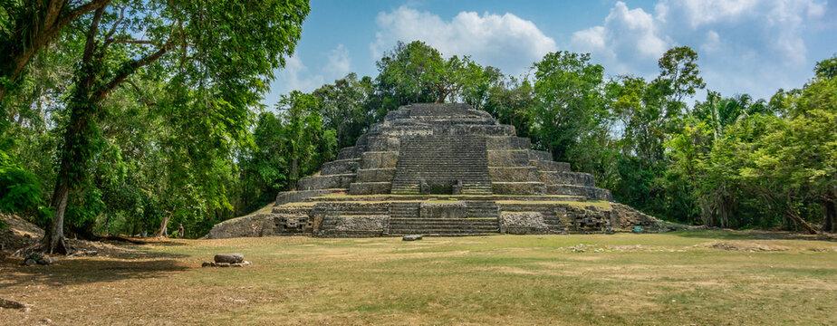 Lamanai Temple Mayan Ruins in Belize.