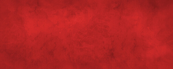 Wall Mural - Red Christmas background with marbled grunge watercolor texture in abstract vintage painted paper design that is elegant and has old grungy texture