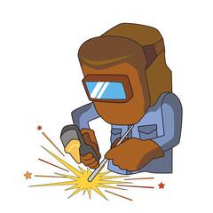 溶接 溶接工 アーク溶接 作業 作業員 主線なし