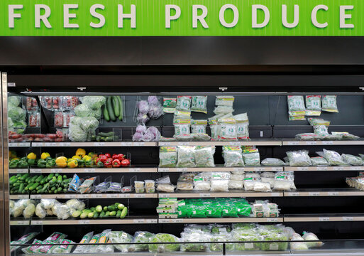 Organic fresh foods are seen on a shelf at a Keels super market,amid concerns about the spread of the coronavirus disease, amid concerns about the spread of the coronavirus disease, in Colombo