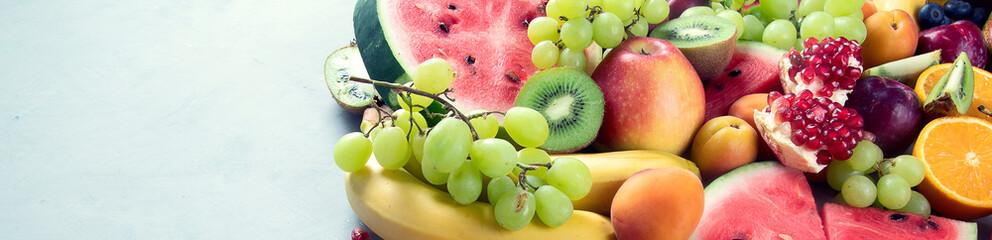Wall Mural - Fresh healthy fruits