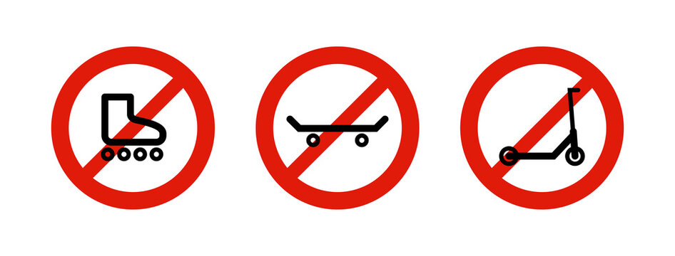 Red prohibition signs