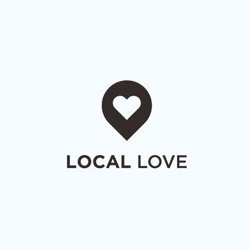 love local logo. love icon