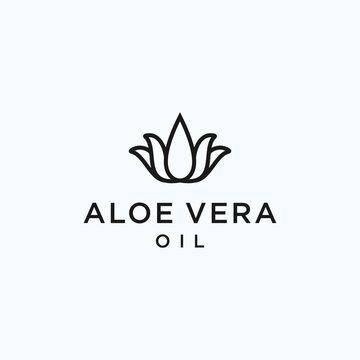 aloe vera oil logo. aloe vera icon