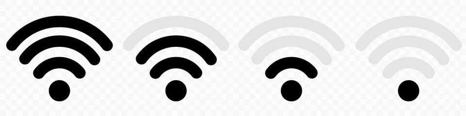 Wi-fi wireless icon collection. Wireless and wifi icon or wi-fi icon sign for remote internet access. Internet connection signal .Signal Icon .Internet Connection .Vector illustration EPS10