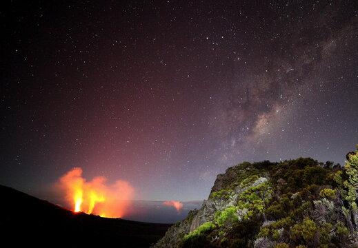 Volcanic milkyway on Piton de la Fournaise