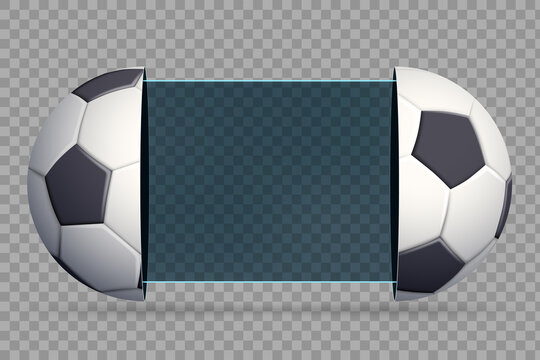 Soccer scoreboard with sport balls. Vector template.