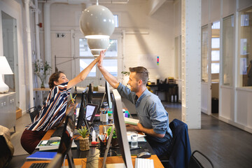 Business creative people working in a casual modern office