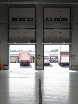 Open Cargo Doors Warehouse