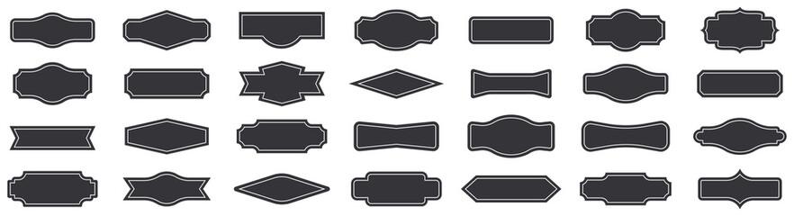 Vintage banner set. Vintage frames collection. Blank label, badge. Vector Fototapete
