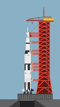 Saturn V on Launchpad 39-A