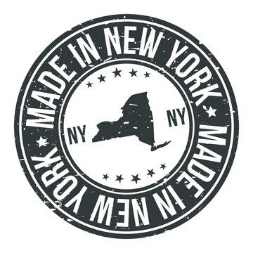 Made in New York State USA Quality Original Stamp Design Vector Art