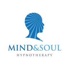 Psychology Logo. Hypnotherapy Logo Design Vector