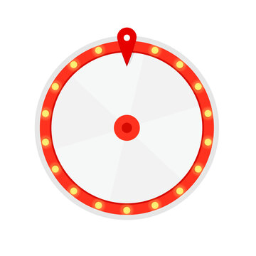 Wheel of fortune 6 slots icon. Clipart image isolated on white background