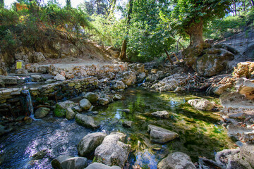 Seven water spring (Epta Piges) in forest near Kolymbia (Rhodes, Greece)