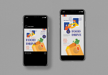 Food Drive Social Media Post Layout