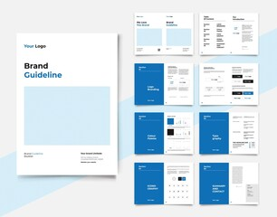 Brand Identity Guideline Template Brand Style Guide Brochure Layout Brand Book